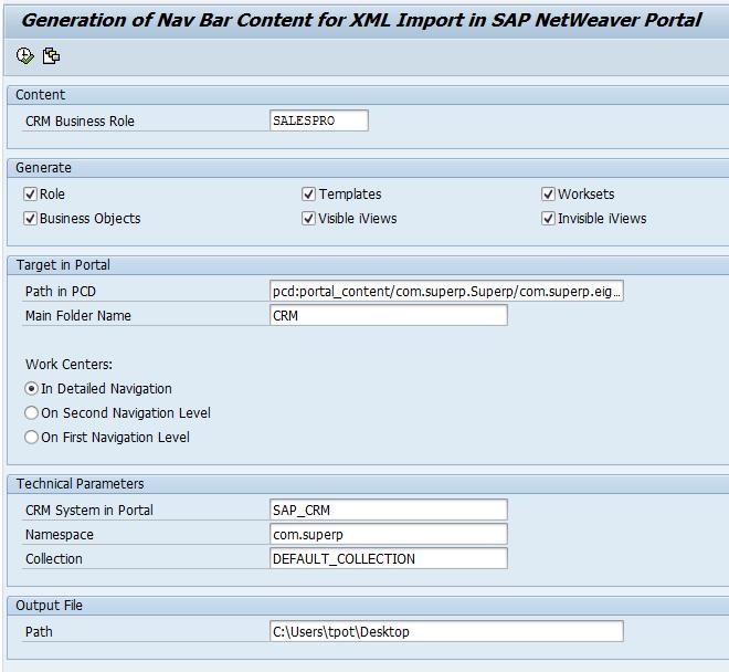 SAP CRM | Create Portal Content for CRM WebUI - SUPERP
