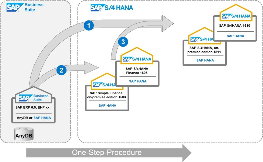 Transition-Paths-conversion to different S4HANA variants